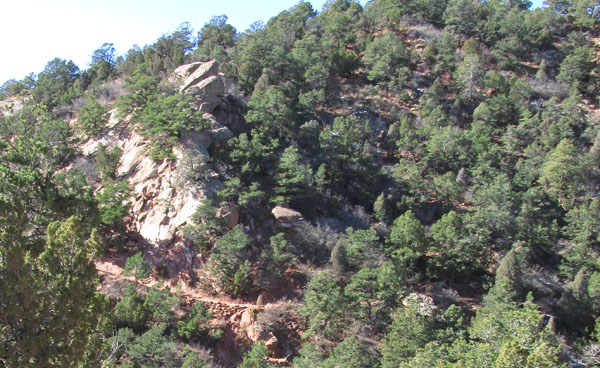 View of Trail in Garden of Gods