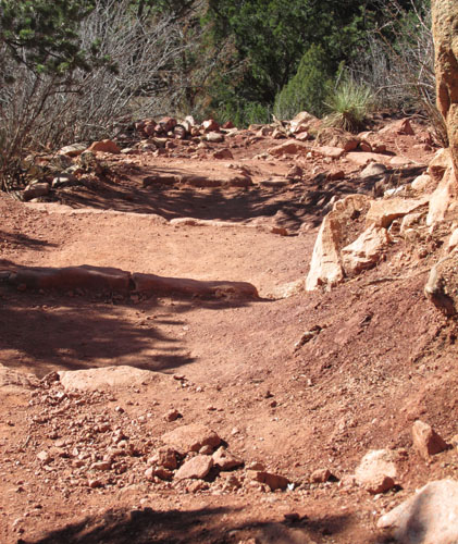 Red Rocky Trail in the Garden of the Gods