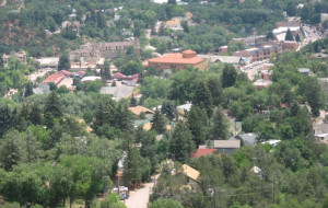View from above Manitou Springs