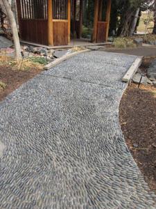 Japanese stone path at Denver Botanical Gardens