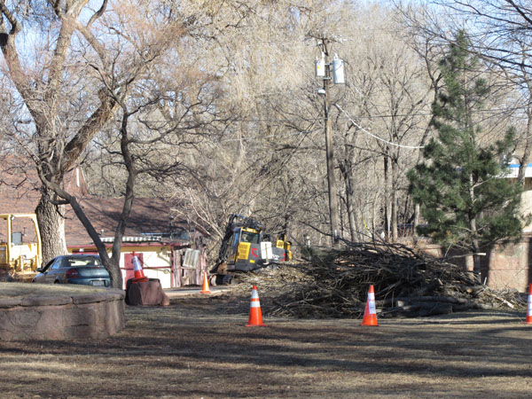 Debris removed from Fountain Creek at Memorial Park