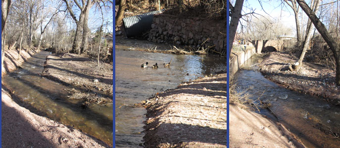 Fountain Creek realigned at Memorial Park