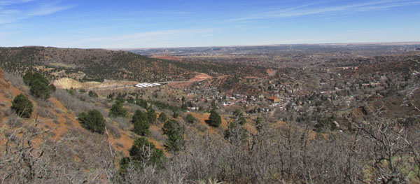 Manitou Springs Downtown & view to the East