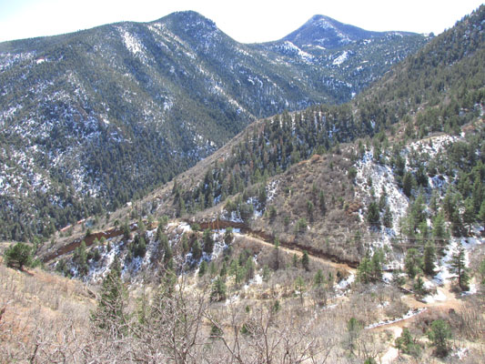 Ute Trail below in Manitou Springs
