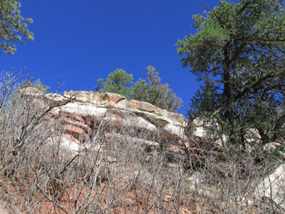 Blue Sky above Redstone Cliff in Garden of the Gods
