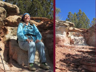 Julia in White Rock Chair in Garden of the Gods