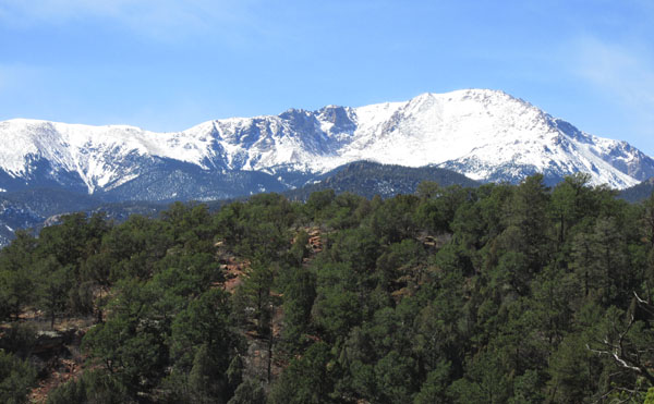 Spectacular View of Pikes Peak