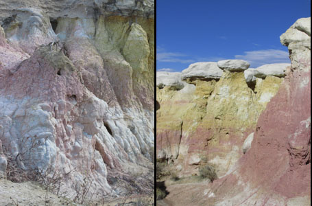 Colorful Formations in Calhan's Paint Mines Park