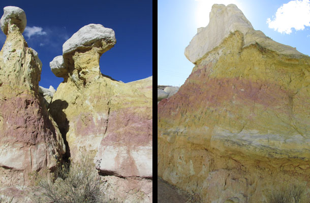 Golden Lavender Rock Creatures at Calhan Paint Mines