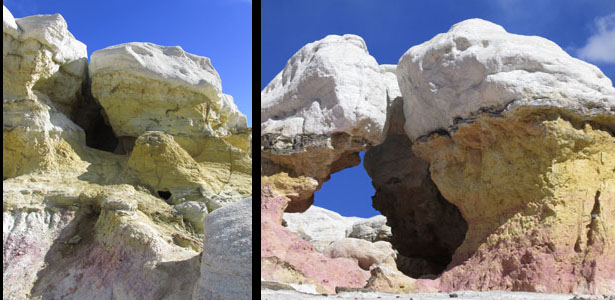Dinosaur Kissing Rocks at Calhan Paint Mines