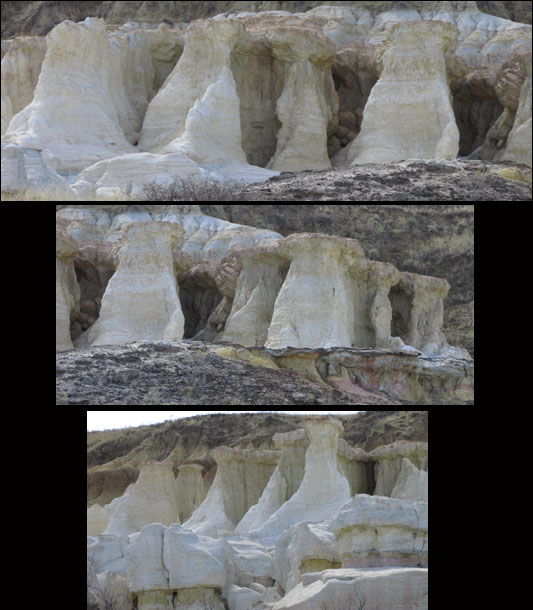 Salt Pillars in Colorado Paint Mines