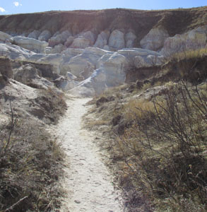 Path into Colorado Paint Mines Formations