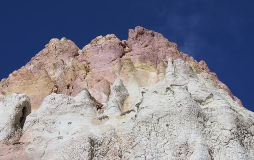 3 Worshipers seen in Rock Formation in Calhan Paint Mines Park