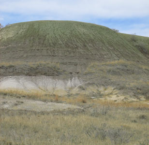 Colorful Mound in Calhan's Paint Mine Park