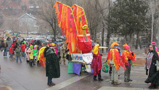 Phoenix Rising Theme Float for Manitou Springs Canrivale