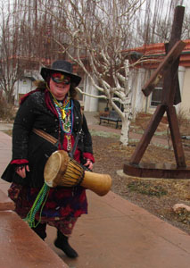 A Drummer is Ready to Party at Carnivale in Manitou Springs