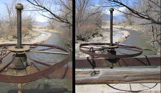 Large Wheel & Pilkes Peak at Fountain Creek Nature Center