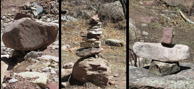 Cairns in Williams Canyon