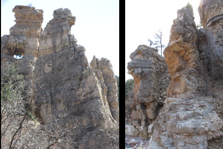 Rocky Sentinels in Williams Canyon