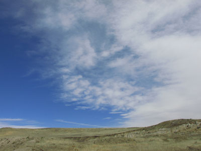 Clouds above Calhan Paint Mines