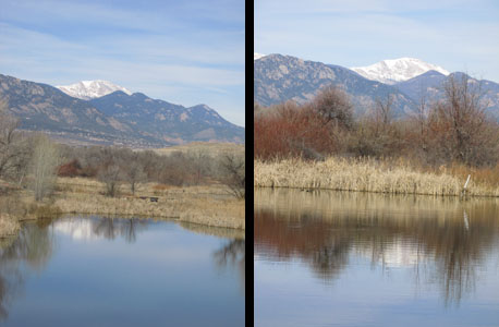 Reflections of Pikes Peak At Fountain Creek Nature Center