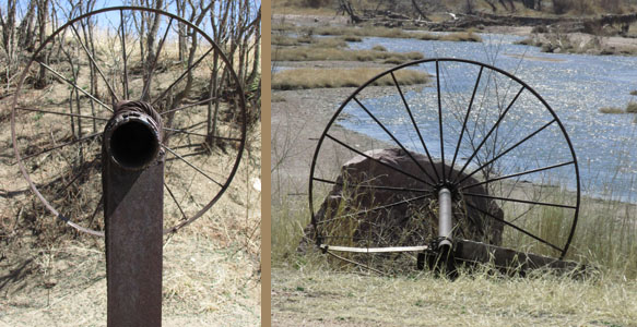 Large Rusty Wheels at Fountain Creek Nature Center