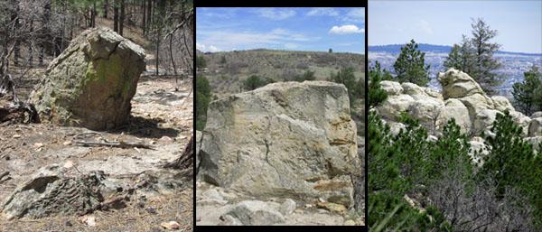 Piggy white rocks in Ute Valley Park