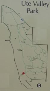 Map of Ute Valley Park in Colorado Springs