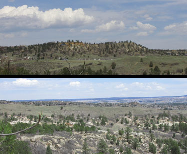 Views to the North & East at Ute Valley Park