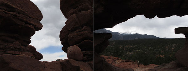 Keyhole View of Pikes Peak