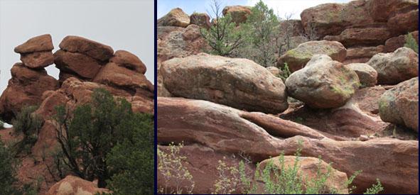 Kissing Rocks in the Garden of the Gods