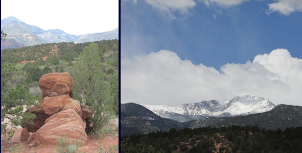 Princess Rock & Pikes Peak seen at the Garden of the Gods