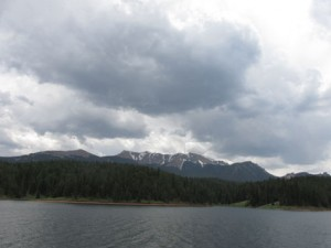 Dark Clouds Pikes Peak at Catamount Reservoir Hike