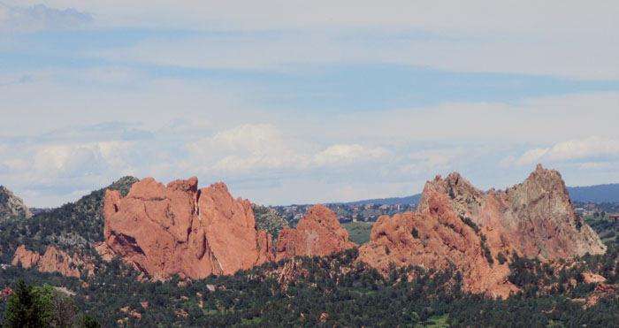 View of Garden of the Gods from Bevers Trail