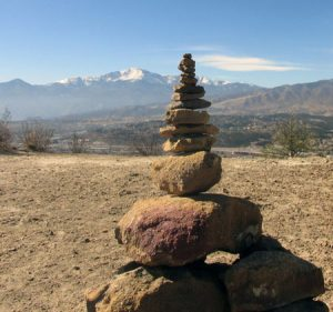 Cairn at Pulpit Rock Colorado Springs
